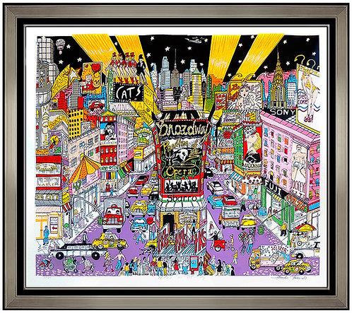"""Night On Broadway"" by Charles Fazzino"