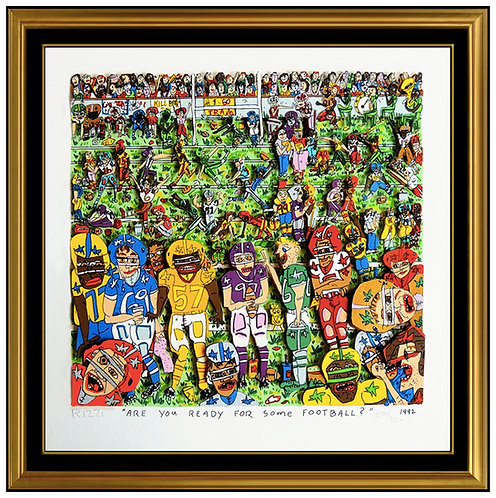 """Are You Ready For Some Football"" by James Rizzi"