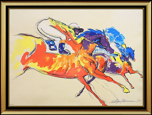 """Into The Turn"" by LeRoy Neiman"