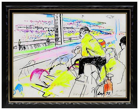 """Roger Penske, Happy 50th Birthday"" by LeRoy Neiman"