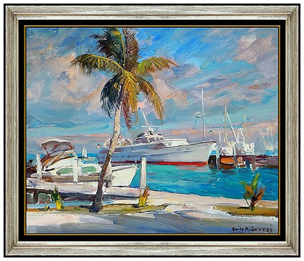 """Original Boats of the Harbor"" by Emile Gruppe"