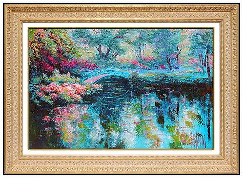 """Bridge Over Monet's Pond"" by Mark King"