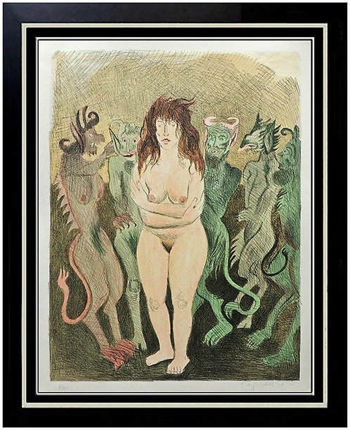 """""""Nude with Devils"""" by Raphael Soyer"""