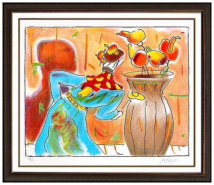 """""""Robed Man and Vase"""" by Peter Max"""
