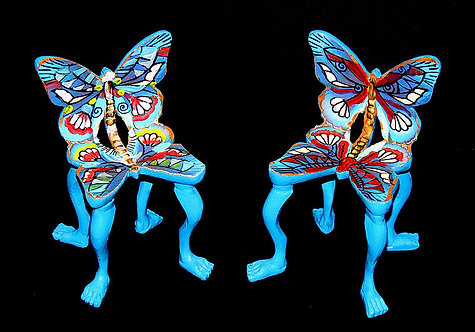 """Two Original Butterfly Chairs"" by Pedro Friedeberg"