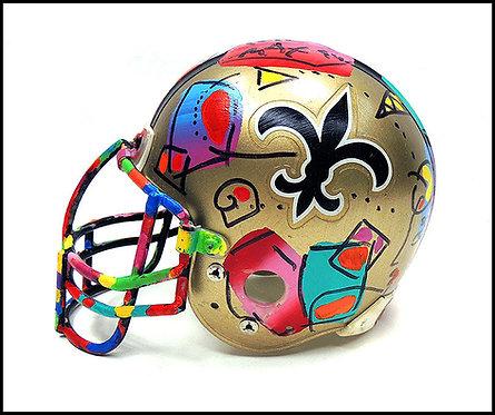 """""""Saints Original Super Bowl XXIX Helmet"""" by Peter Max"""