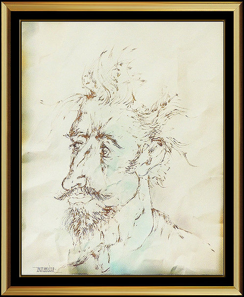 """""""Original Self Portrait"""" by Leonardo Nierman"""