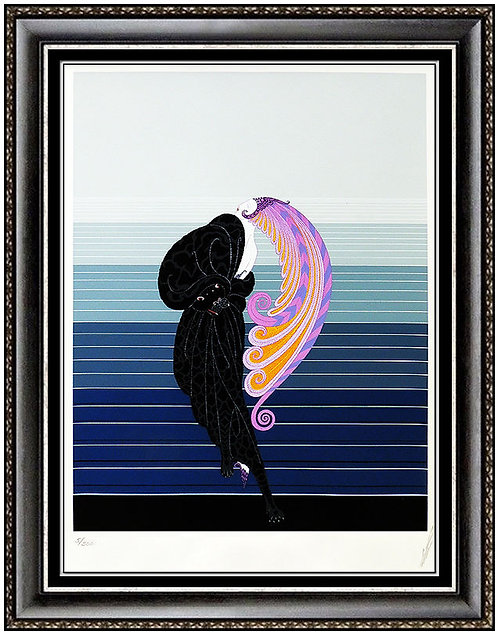 """""""Beauty and the Beast"""" by Erte"""