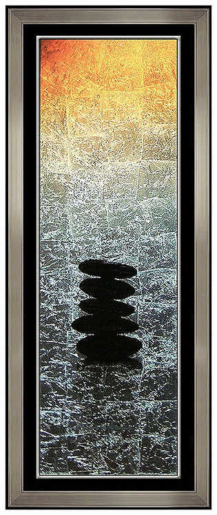 """Original Zen Rocks - Gold"" by Patrick Guyton"