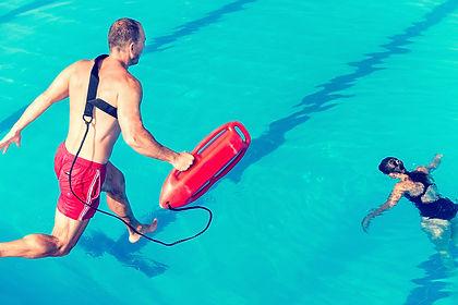 Lifeguard rescue course - lifeguard jump