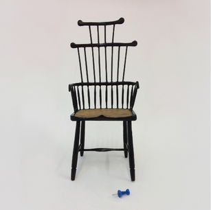 Front veiw of 1:6 scale Jason Mosseri's english chair model.