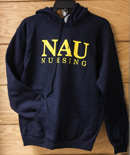 "Unisex Hoodie ""NAU Nursing with Caduceus (healthcare symbol)"""