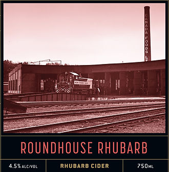 Roundhouse Rhubarb, Rhubarb Cider, Local Food