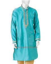 Turquoise Collared Tunic