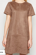 Brown suede tunic