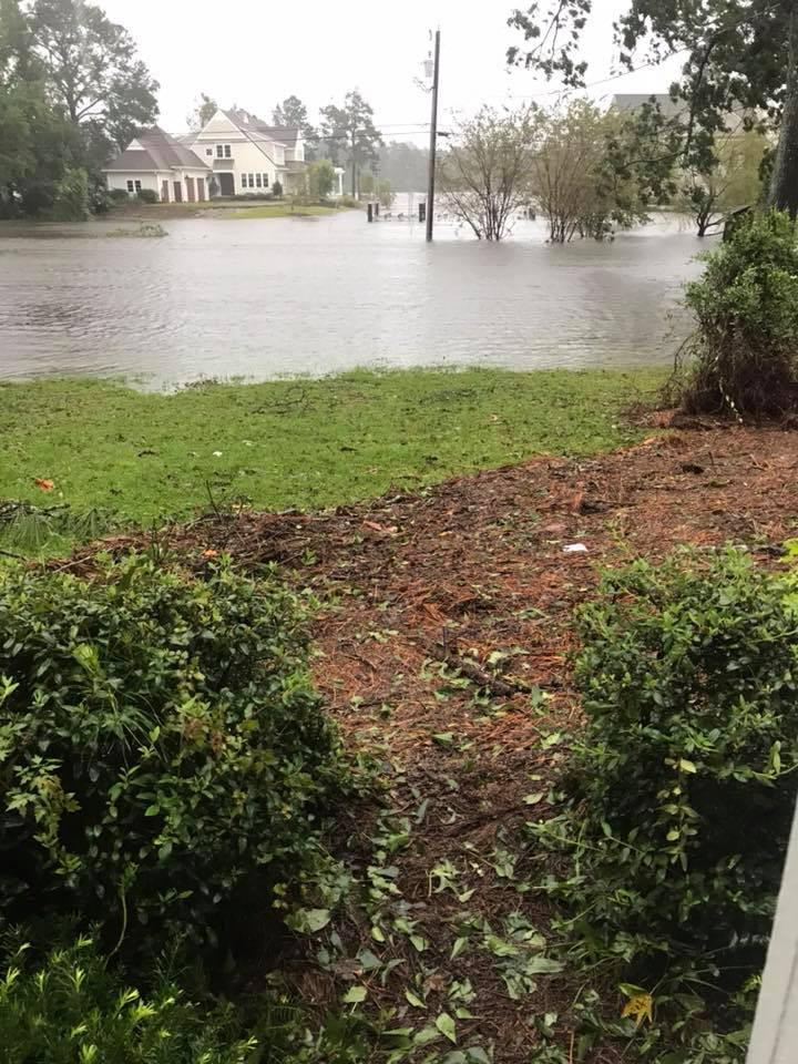 Hurricane Florence's waters stopped just short of the McCracken home in New Bern, NC