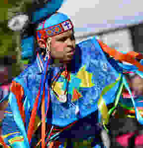 Child Indian dancer at the 2018 Pauwau of the Waccamaw Indian People