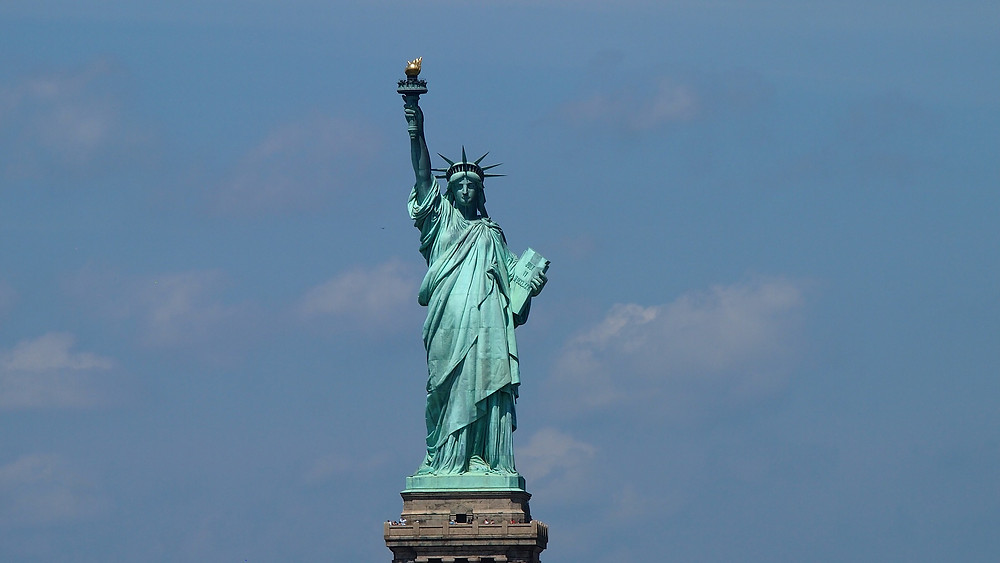 The Statue of Liberty; symbol of freedom to all -- including disabled people who wish to immigrate!