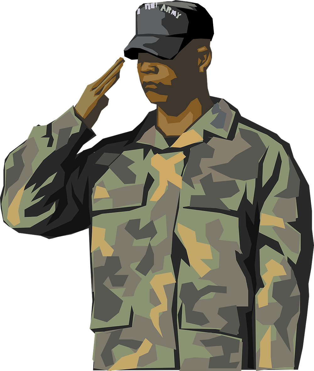 Soldier following orders.