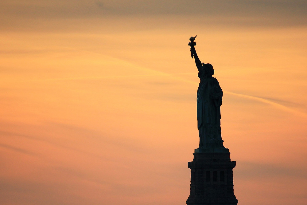 The Statue of Liberty stands as a symbol of America, of freedom, of hope for a better life.