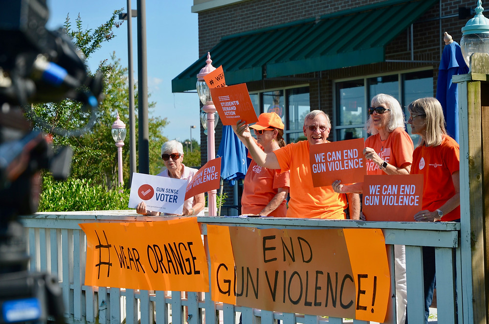 "One of several ""Wear Orange"" demonstrations in Horry County, SC."