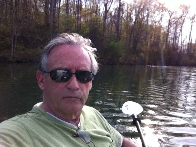 Paddling on Piney Run Lake in Maryland.