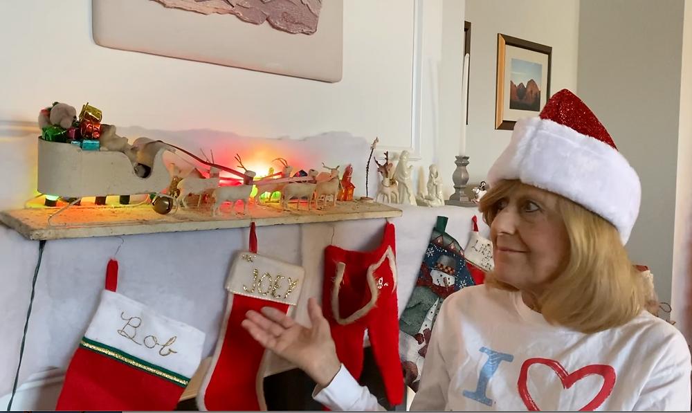 Jackie's Christmas sleigh. Merry Christmas!