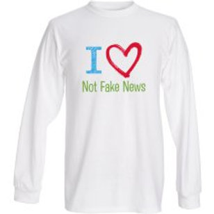 Not Fake News Fruit of the Loom® heavy cotton HD™ long sleeve T