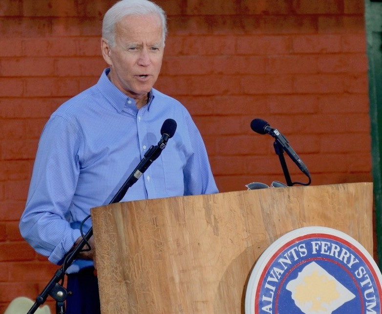 Former Vice President Joe Biden addresses a political rally in South Carolina Sept. 16.