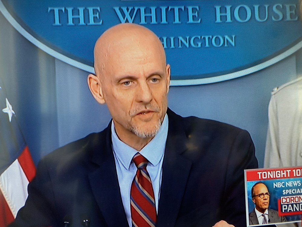 FDA Commissioner Stephen Hahn at White House news conference