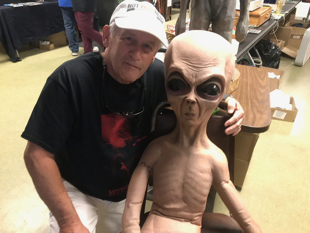 Bob Gatty with creature from the Kecksburg UFO (Festival)