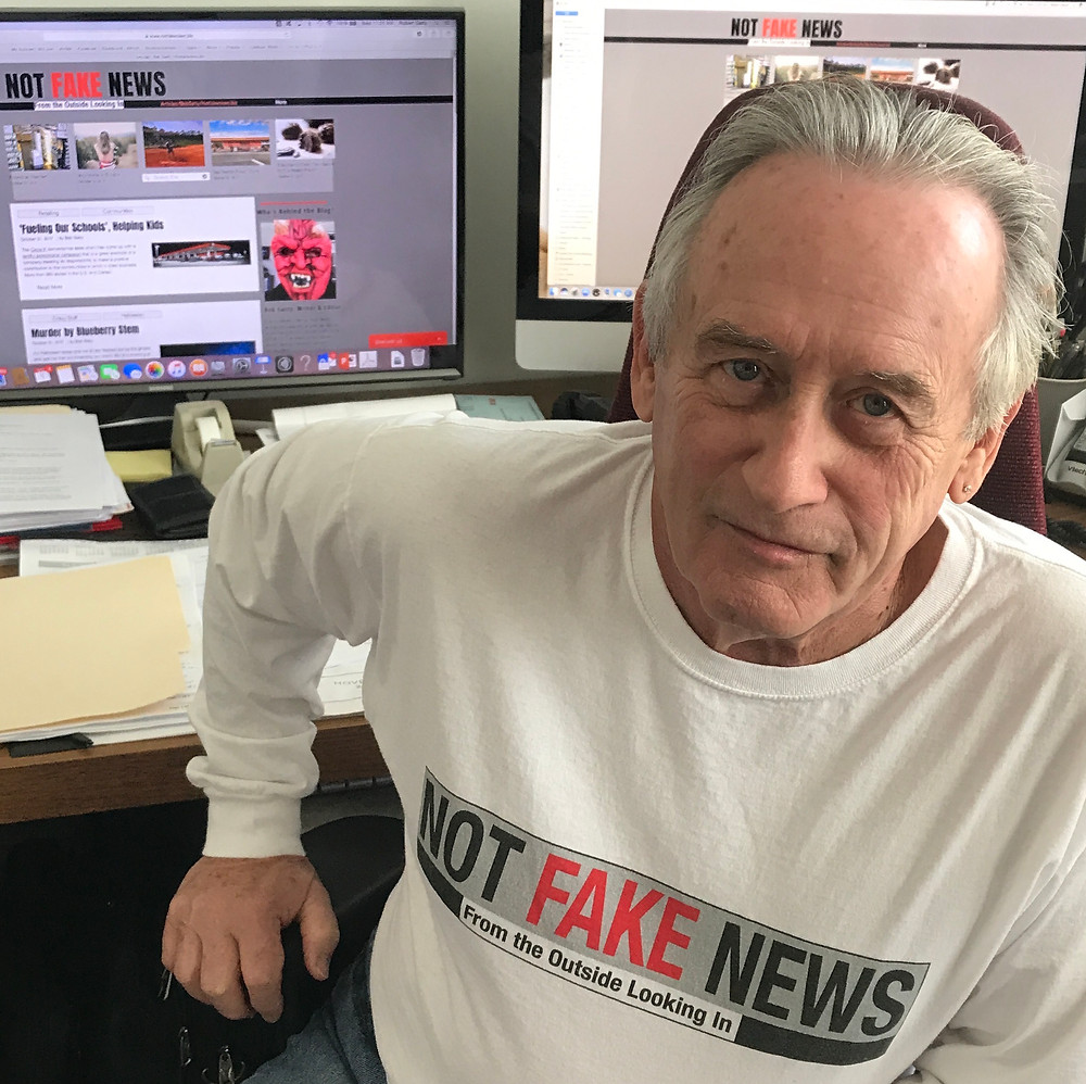 Bob Gatty, founder and blogger-in-chief at Not Fake News.