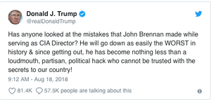 Trump blasts Brennan