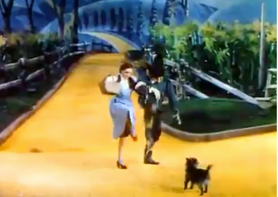 Screen shot from The Wizard of Oz