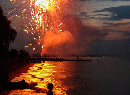 Pic of the Week: Fireworks Explode Over Child on a Beach