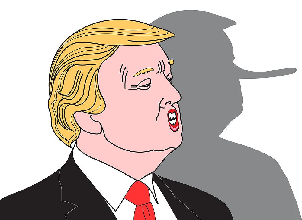 Trump Pinocchio nose