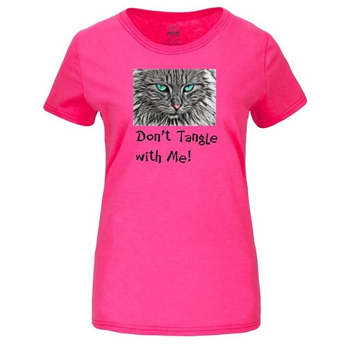 Don't Tangle With Me! Fruit of the Loom® ladies' heavy cotton HD™ short sleeve T