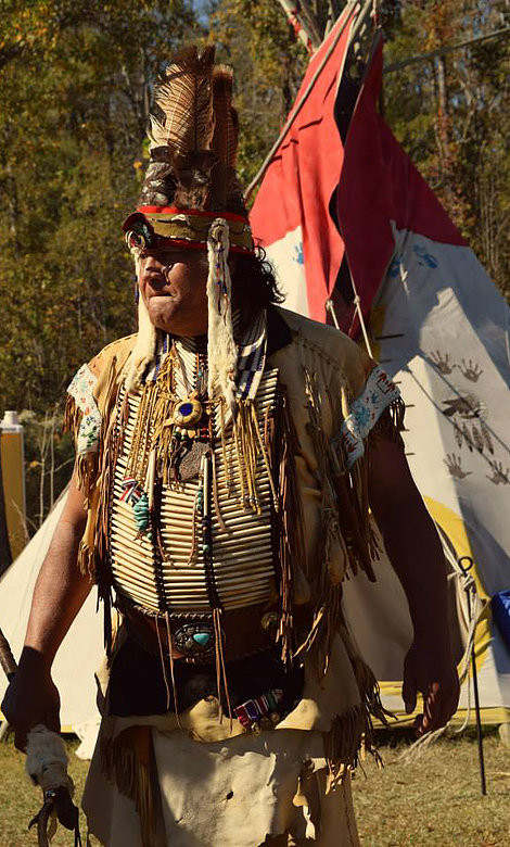 Chief Hatcher at the Waccamaw Tribe's annual Pauwau held at its Tribal Grounds near Aynor, SC