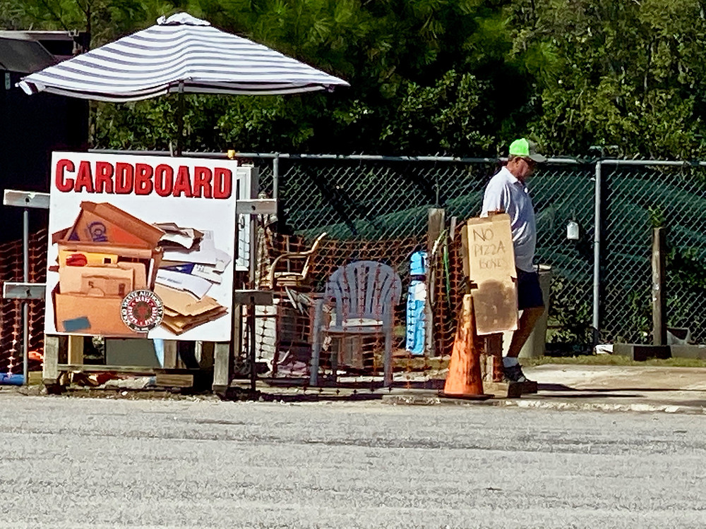 Cardboard recycling center in Myrtle Beach, SC