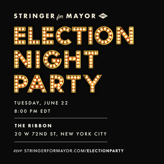 Election night party invite.