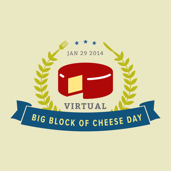 Branding for Big Block Of Cheese Day.