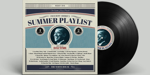 Artwork for President Obama summer playlist.