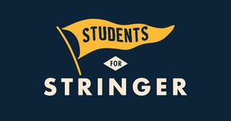 Students for Stringer branding.