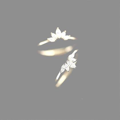 טבעת כתר קריסטל