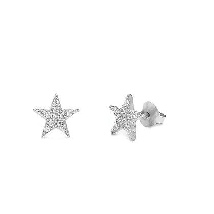 עגיל STAR צמוד זירקון לבן