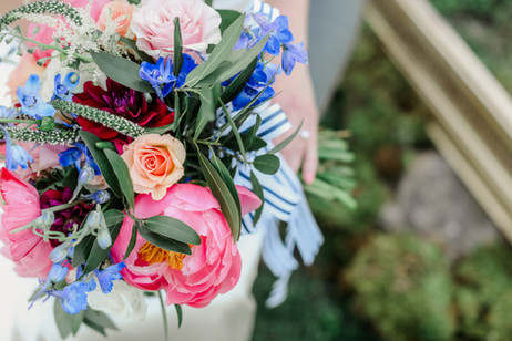 Bridal Pink and Blue
