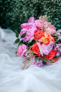Bridal Bouquet Pink and Orange