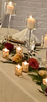 Table Garland and Candles
