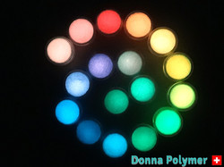 Coloured glow in the dark pigment