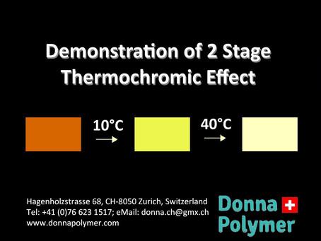 Multi-Stage Thermochromic Masterbatch/ Mehrstufiges thermochromes Masterbatch